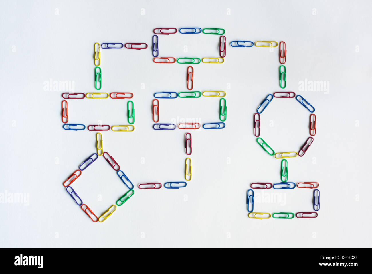 Paper clip organization chart - Stock Image