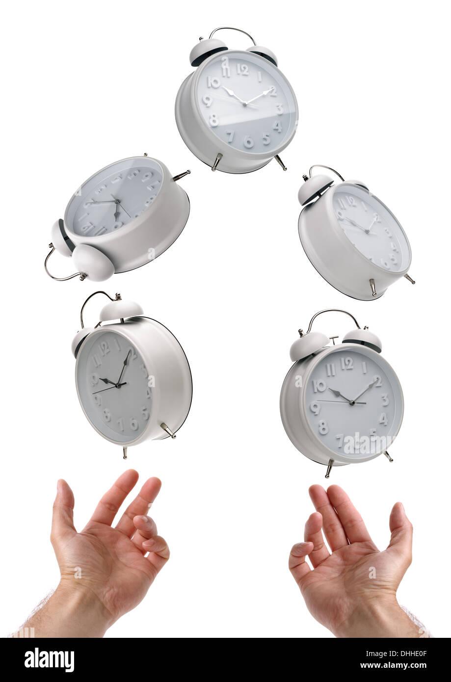 Juggling time - Stock Image