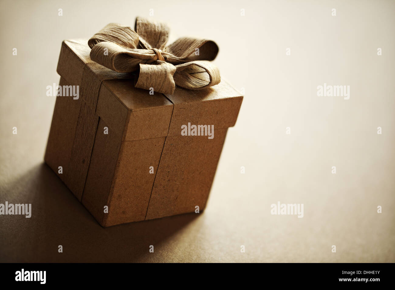 Gift box or Christmas present - Stock Image
