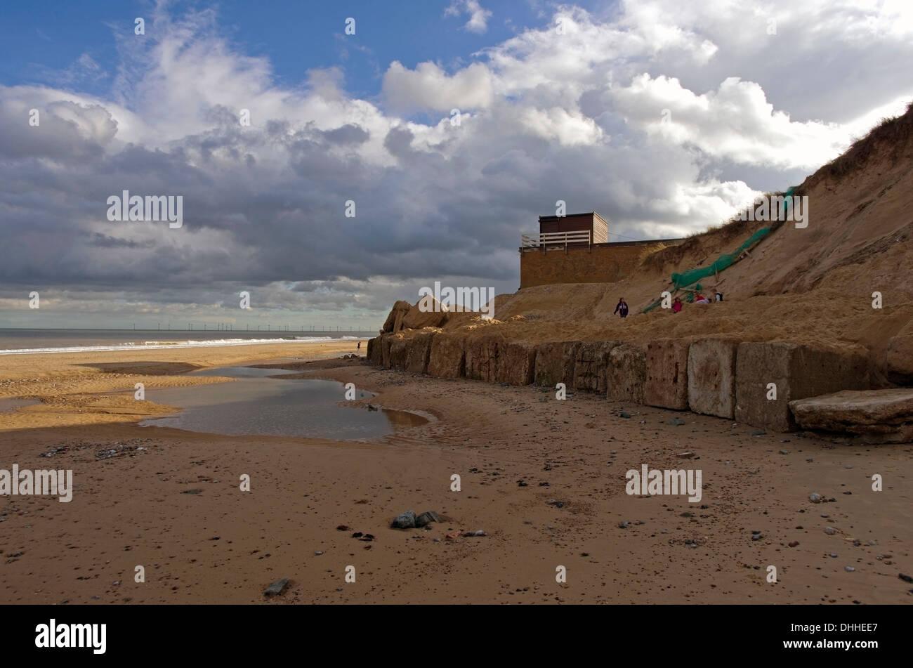 Hemsby beach Eastern coast of Norfolk - Stock Image