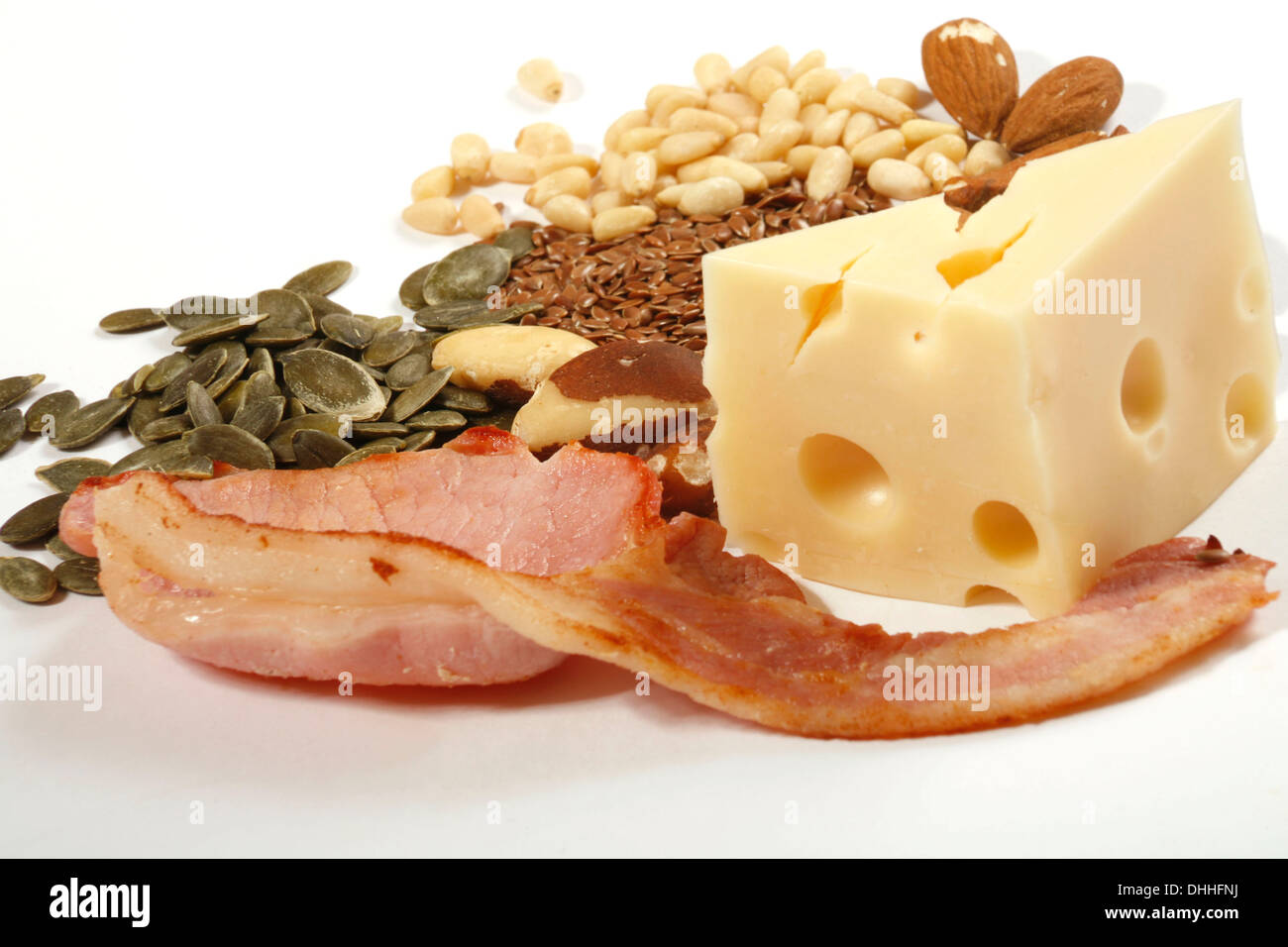 Foods Rich in Phosphorus - Stock Image