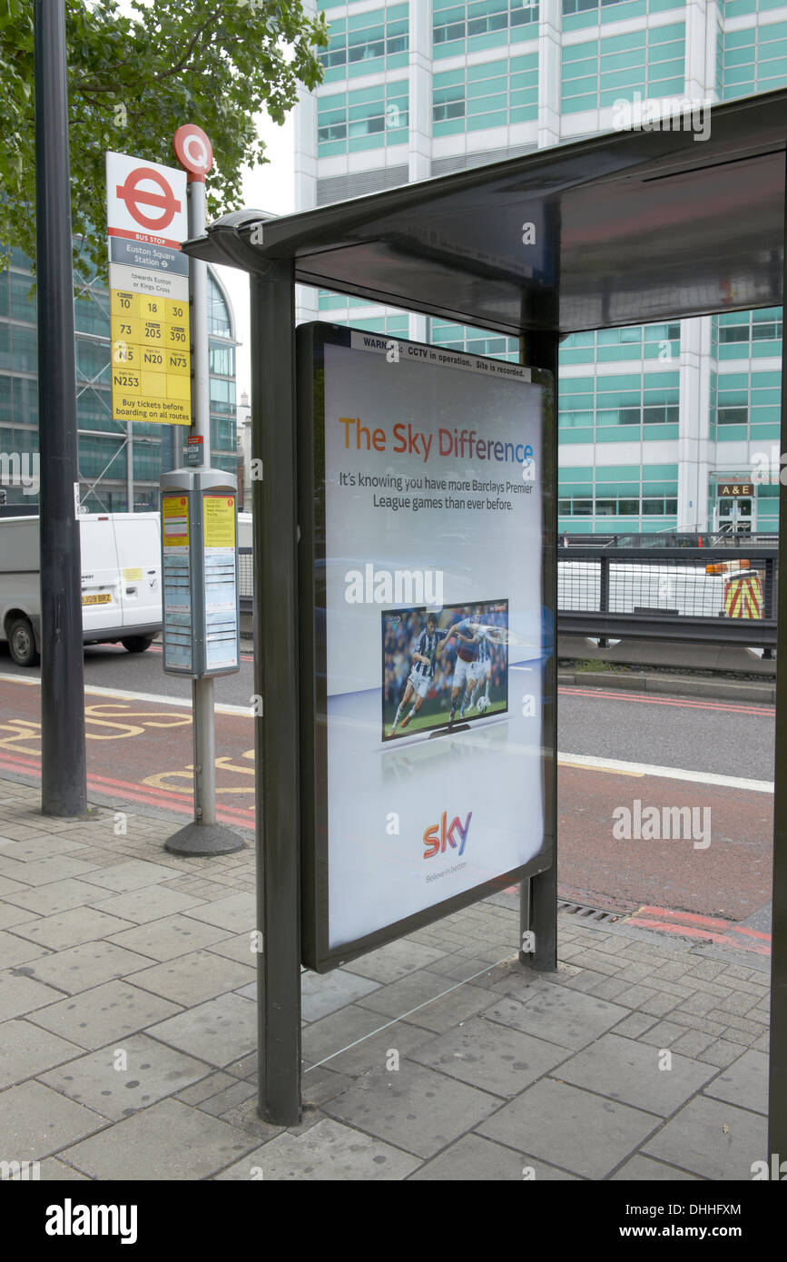 6 sheet poster site in a bus stop - Stock Image