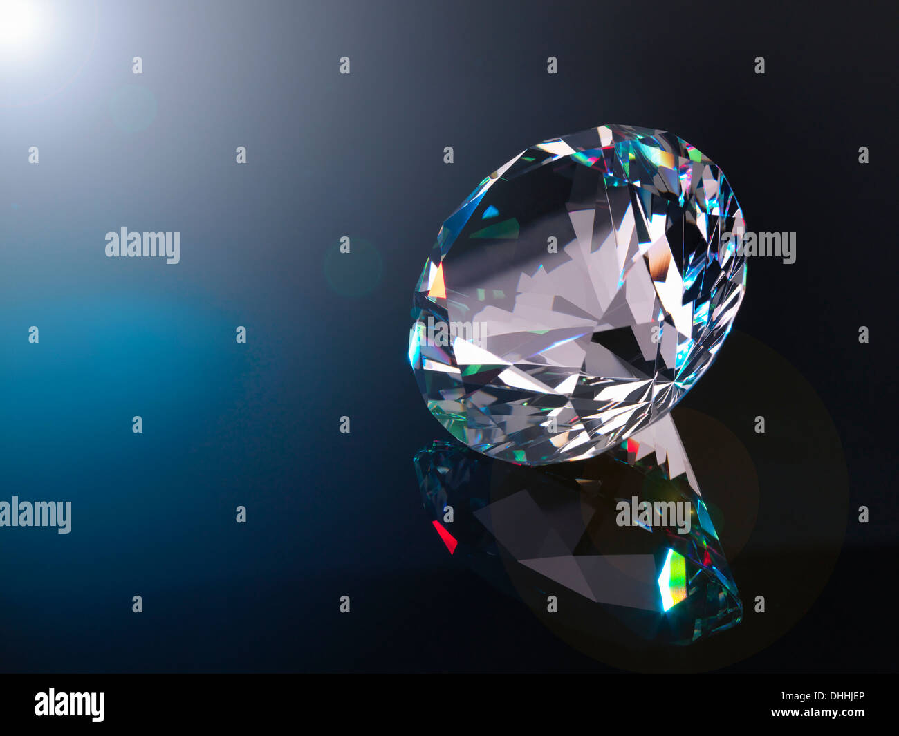 Diamond, close up - Stock Image
