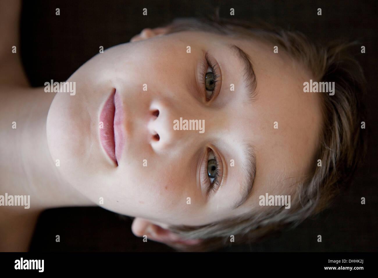 Headshot of boy - Stock Image