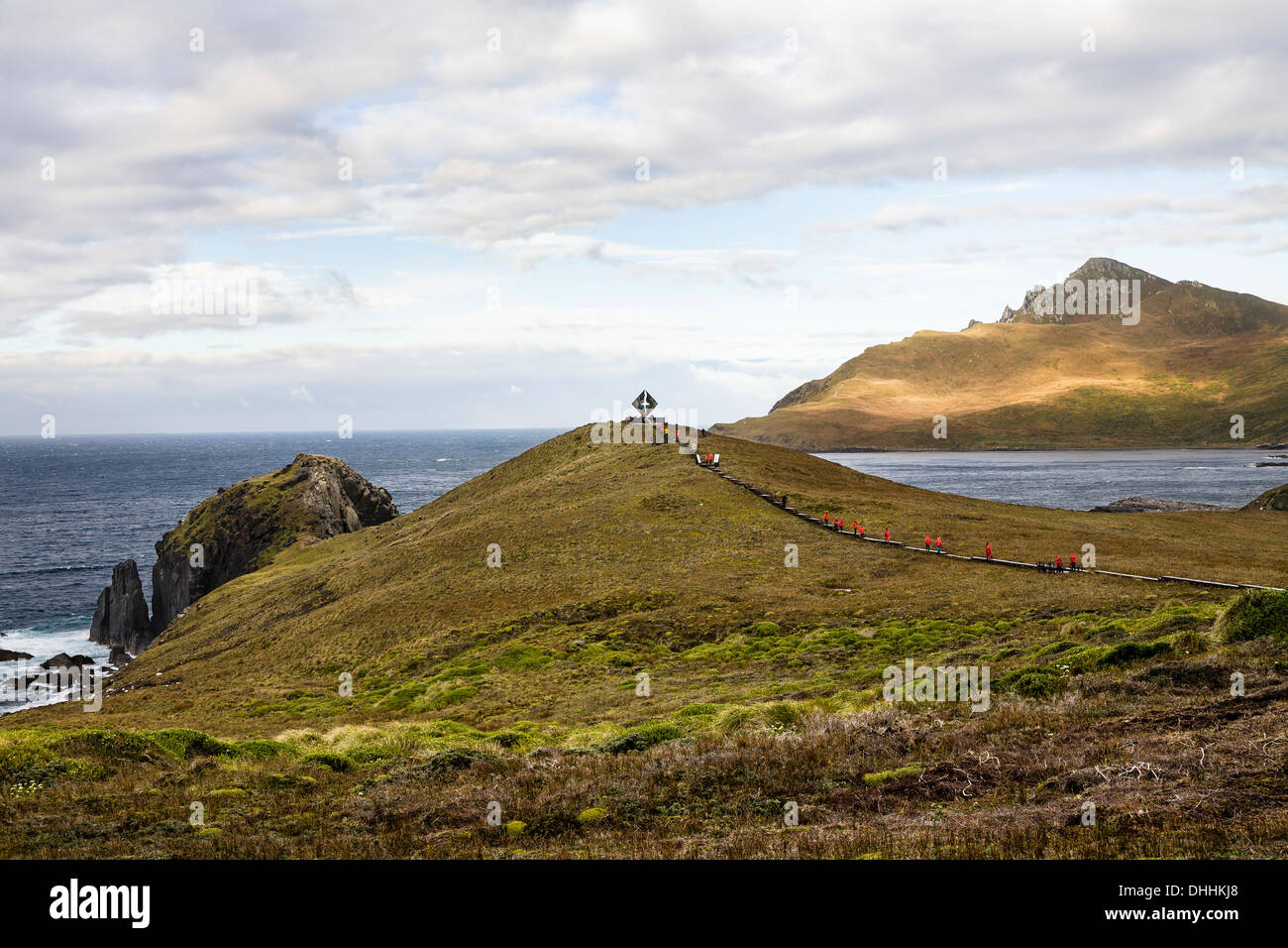 Memorial for castaways at Cape Horn, Cape Horn National Park, Cape Horn Island, Terra del Fuego, Patagonia, Chile, South America - Stock Image