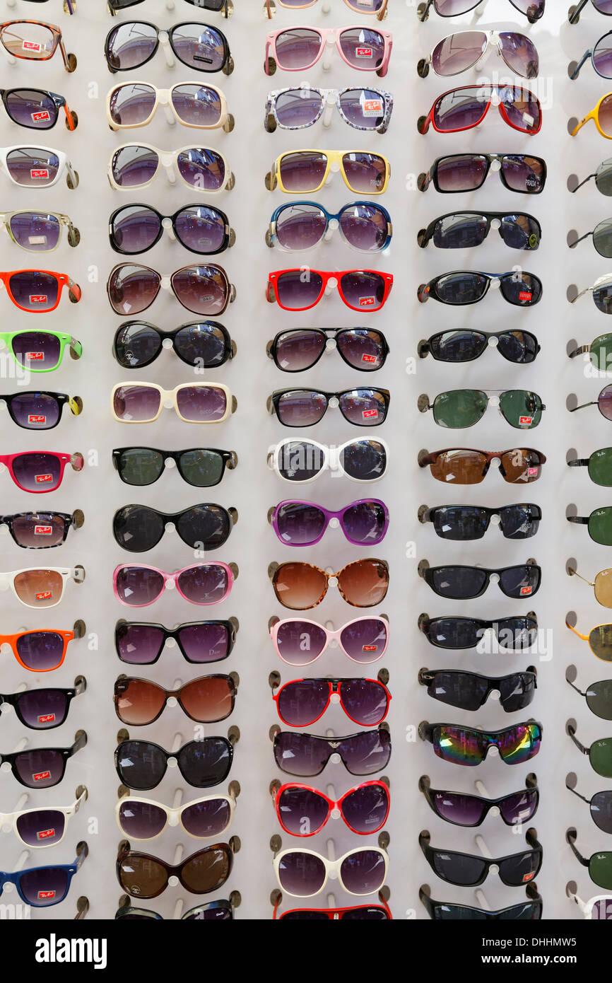 1fae26aceab1 Sunglasses in a display rack, Kaleiçi, Antalya, Antalya Province, Turkey -  Stock
