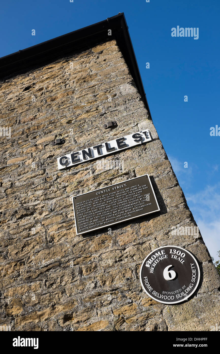 Gentle Street Frome - Stock Image