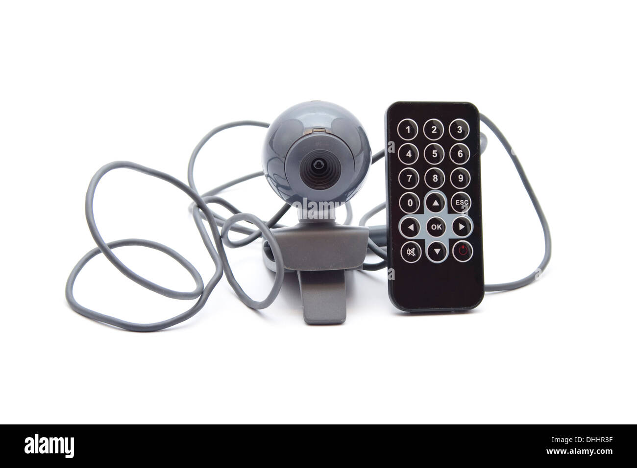 Webcam with Cable and Remote Control Stock Photo: 62471571