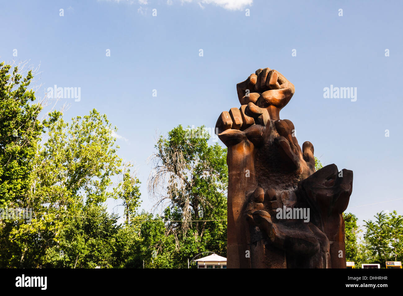 Communist monument at Victory Park. Yerevan, Armenia - Stock Image