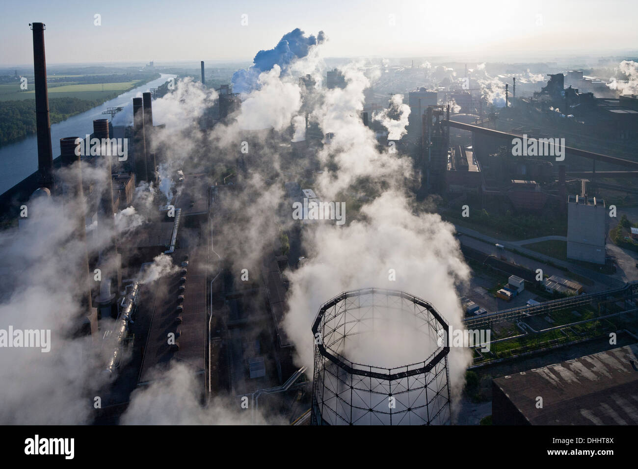 Aerial view of Salzgitter Steelworks, Lower Saxony, Germany - Stock Image