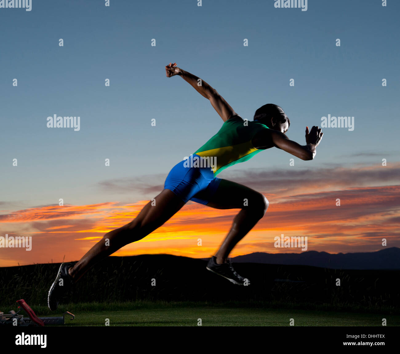 Runner starting race - Stock Image