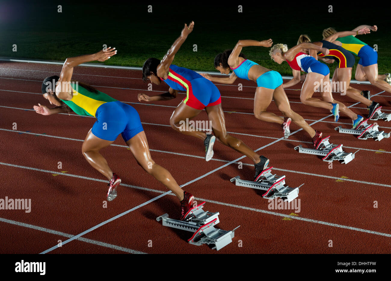 Runners starting race - Stock Image