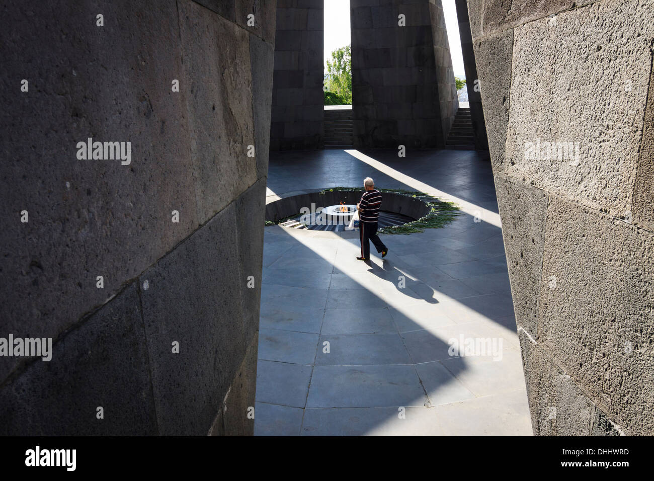 Tsitsernakaberd memorial monument of the Armenian Genocide, yerevan, Armenia - Stock Image