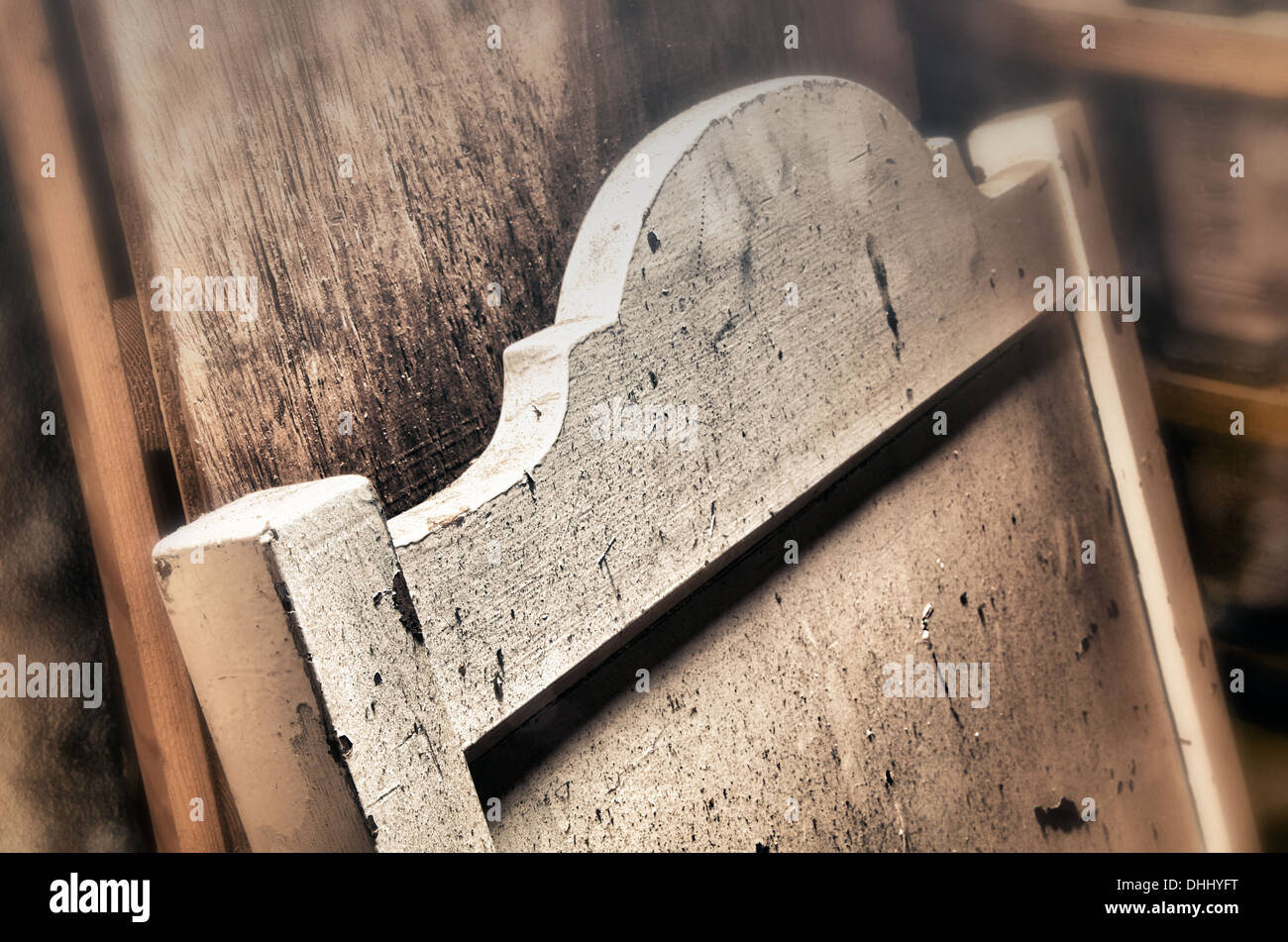 Secrets of an old attic - Stock Image