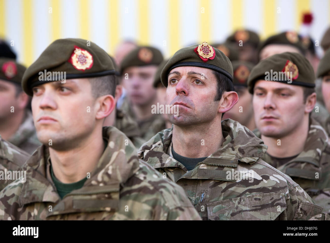10-11-13 MANCHESTER , England. Remembrance Sunday Service at St Peter's Square , Manchester City Centre. - Stock Image