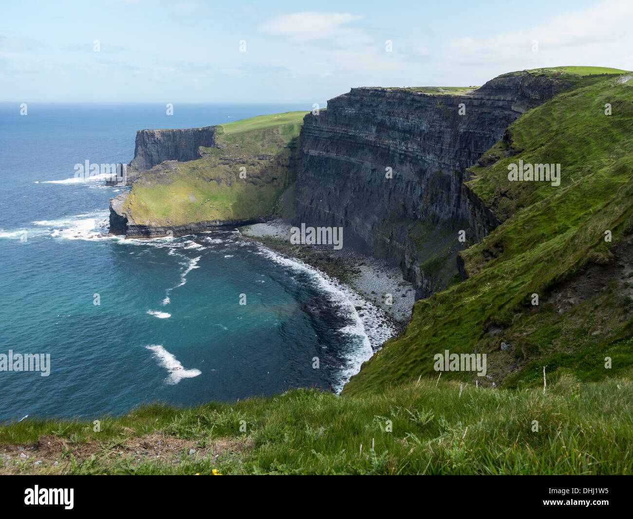 Ireland coast - Cliffs of Moher in South Western Ireland in Burren Region of County Clare - Stock Image