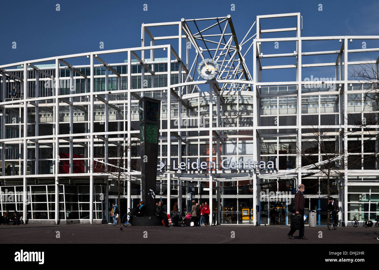 Leiden Centraal station frontage - Stock Image