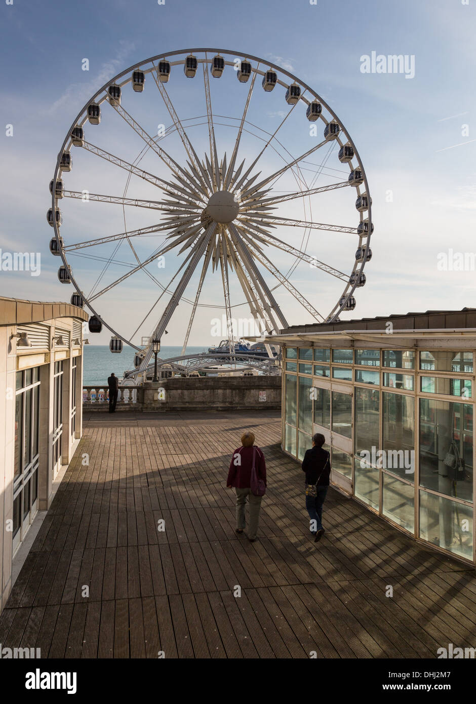 Brighton Wheel, Brighton seafront, Sussex, UK in the late afternoon light - Stock Image