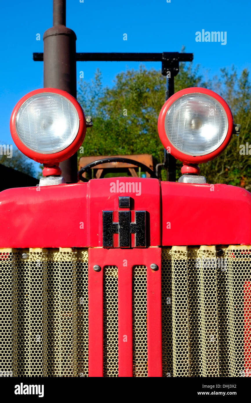 Refurbished 1950's International Harvester tractor. Devon. UK - Stock Image