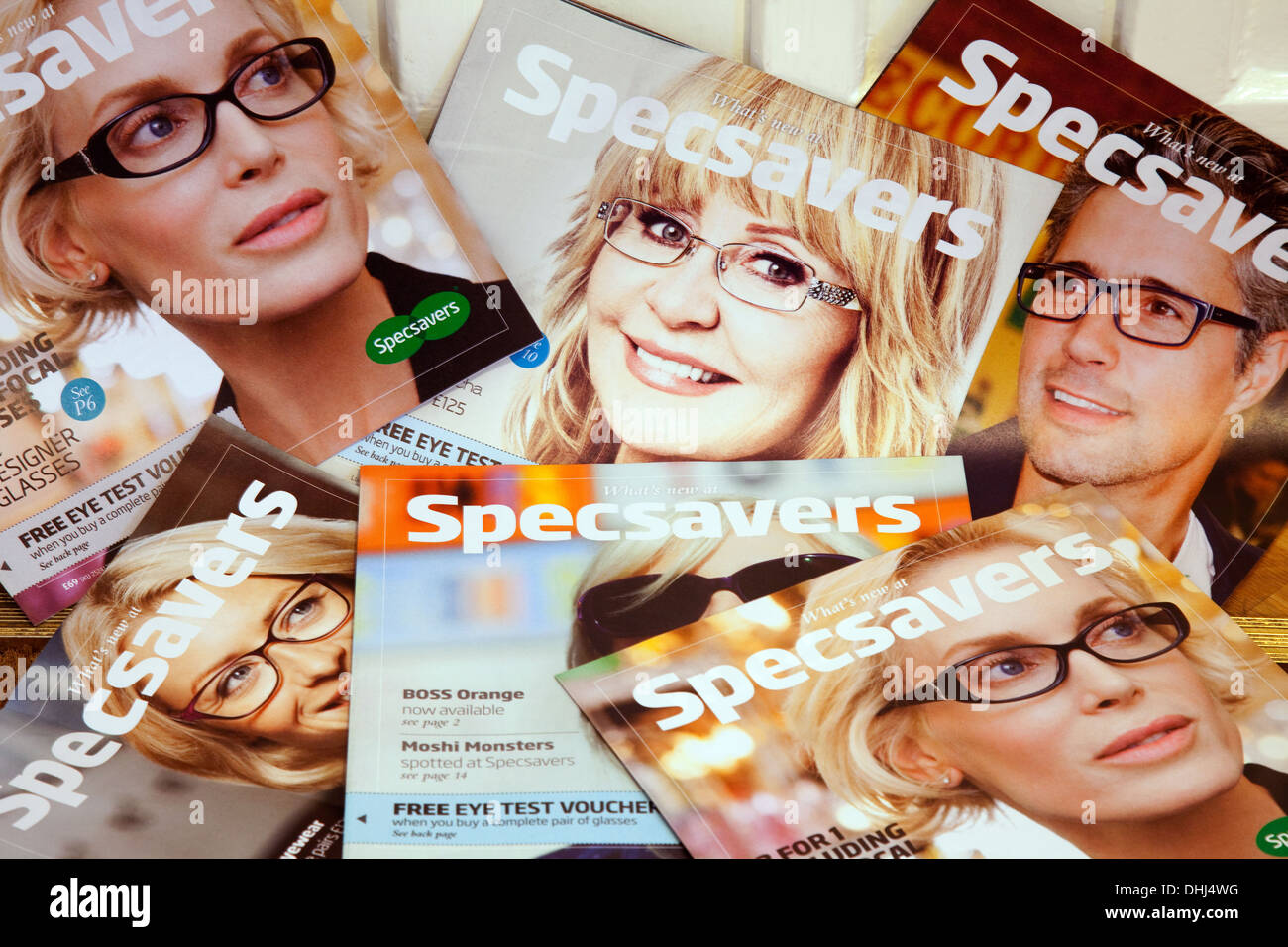 Specsavers - junk mail leaflets , UK - Stock Image