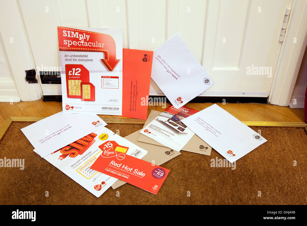 Junk mail from Virgin Media, UK Stock Photo