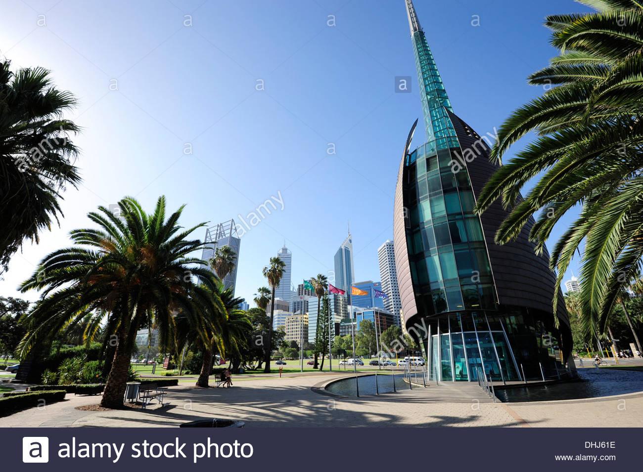 Swan Bell Tower at the Barrack Square, Perth, Western Australia, WA, Australia - Stock Image