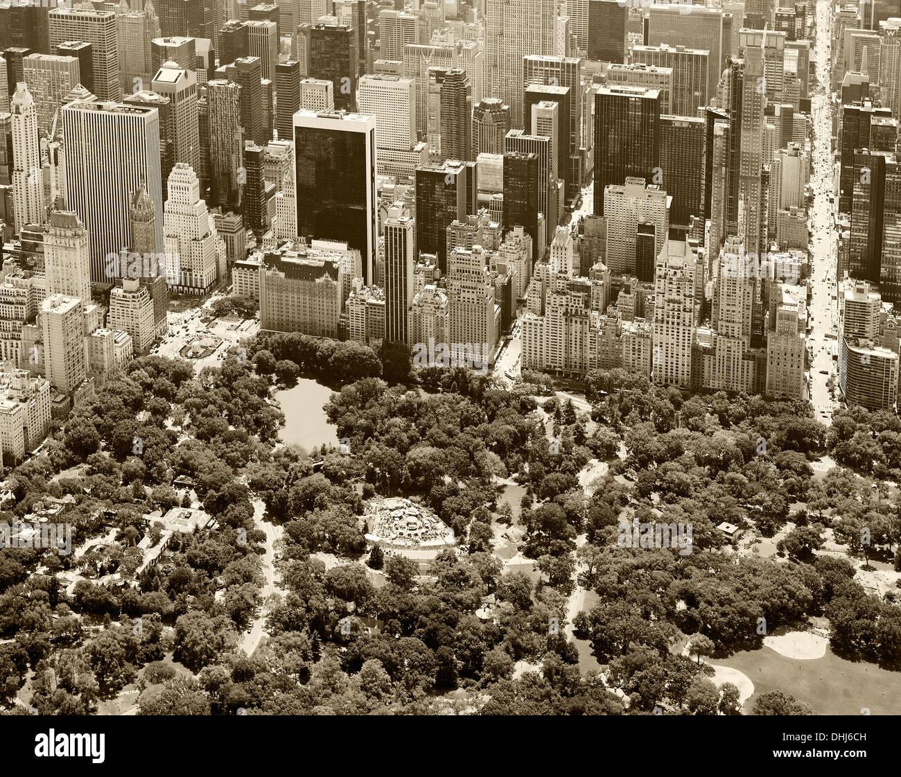 aerial photograph Central Park, Manhattan, New York City Stock Photo