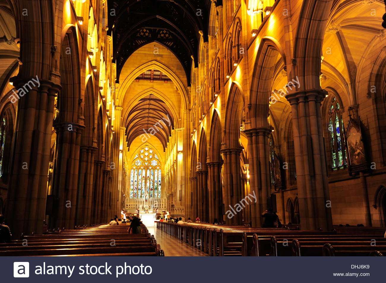 Interior View Of The St Marys Cathedral Main Church In Neo Gothic Style