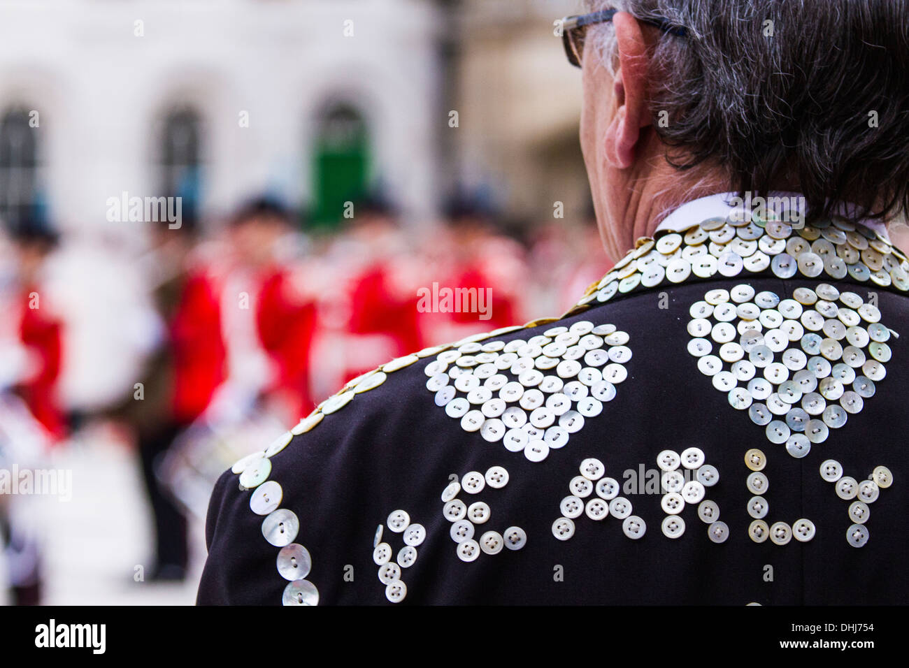 Pearly Kings&Queens Harvest Festival Parade-London - Stock Image