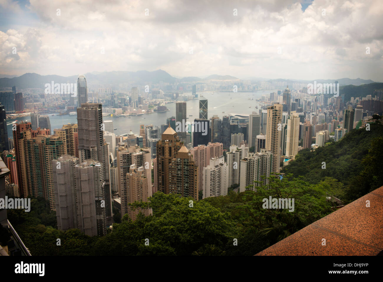 View from Victoria Peak, Hong Kong - Stock Image