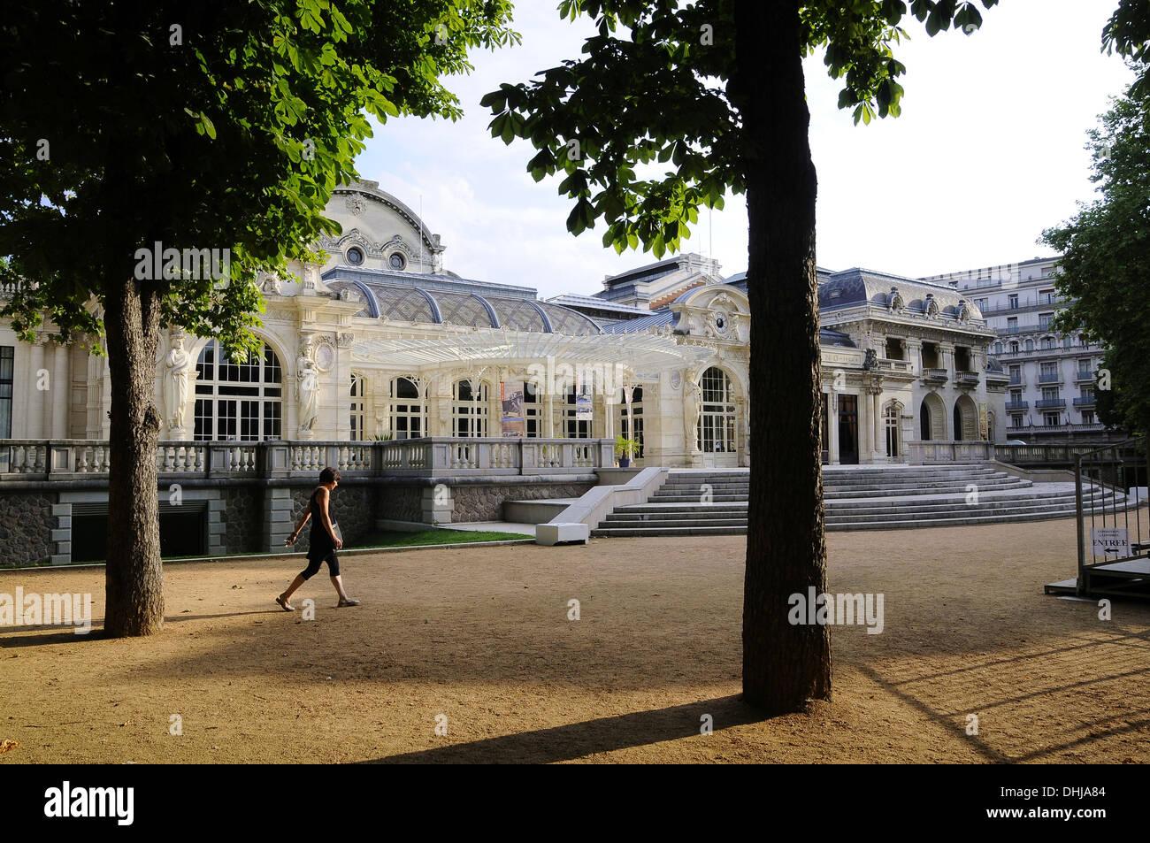 Opera and congress hall, Vichy, Bourbonnais, Auvergne, France, Europe - Stock Image
