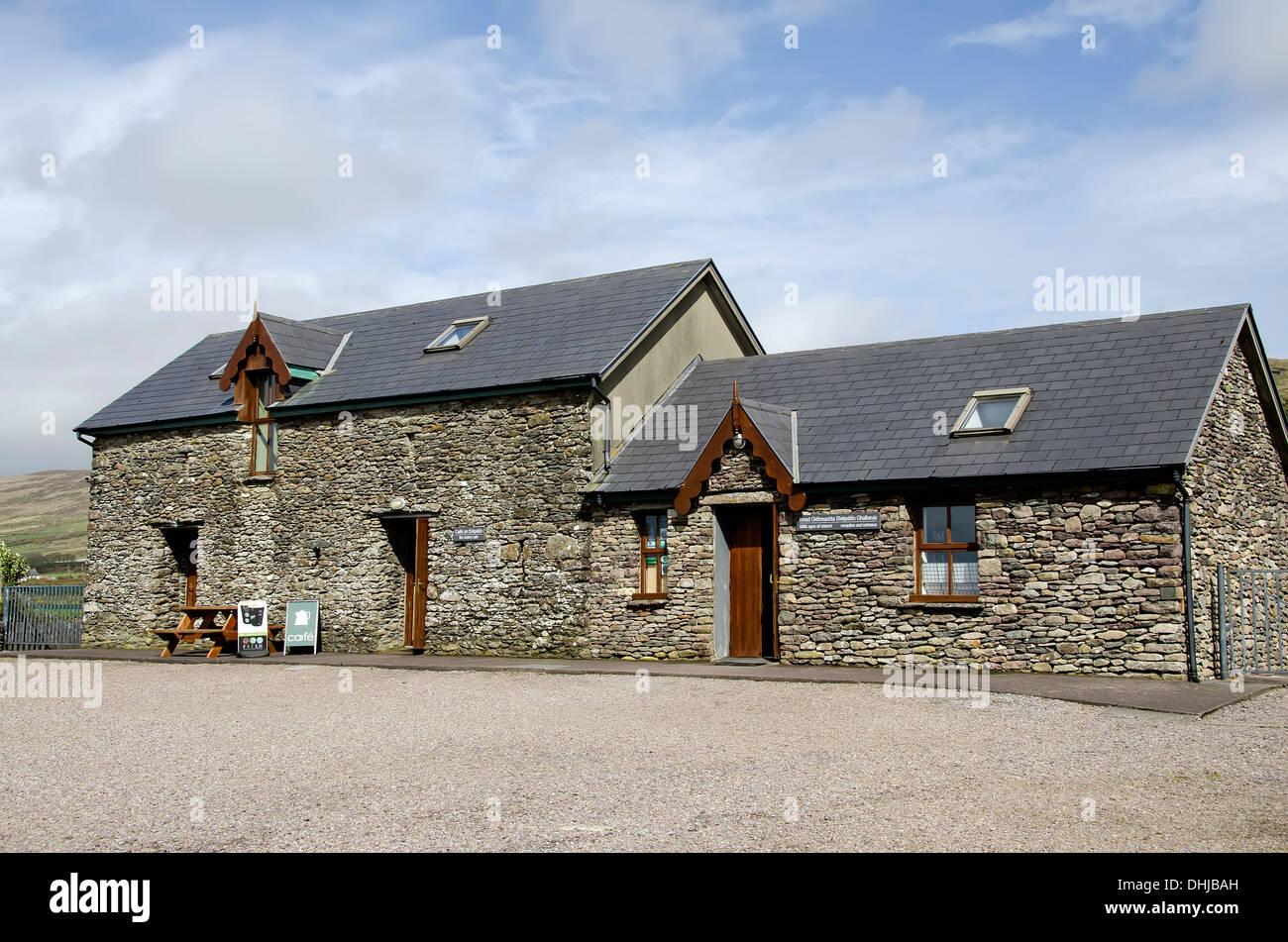 Gallus Oratory Visitor Center near the famous stone church, Ireland. - Stock Image