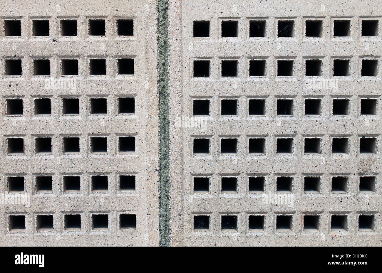 Abstract background of air bricks on exterior of building. - Stock Image