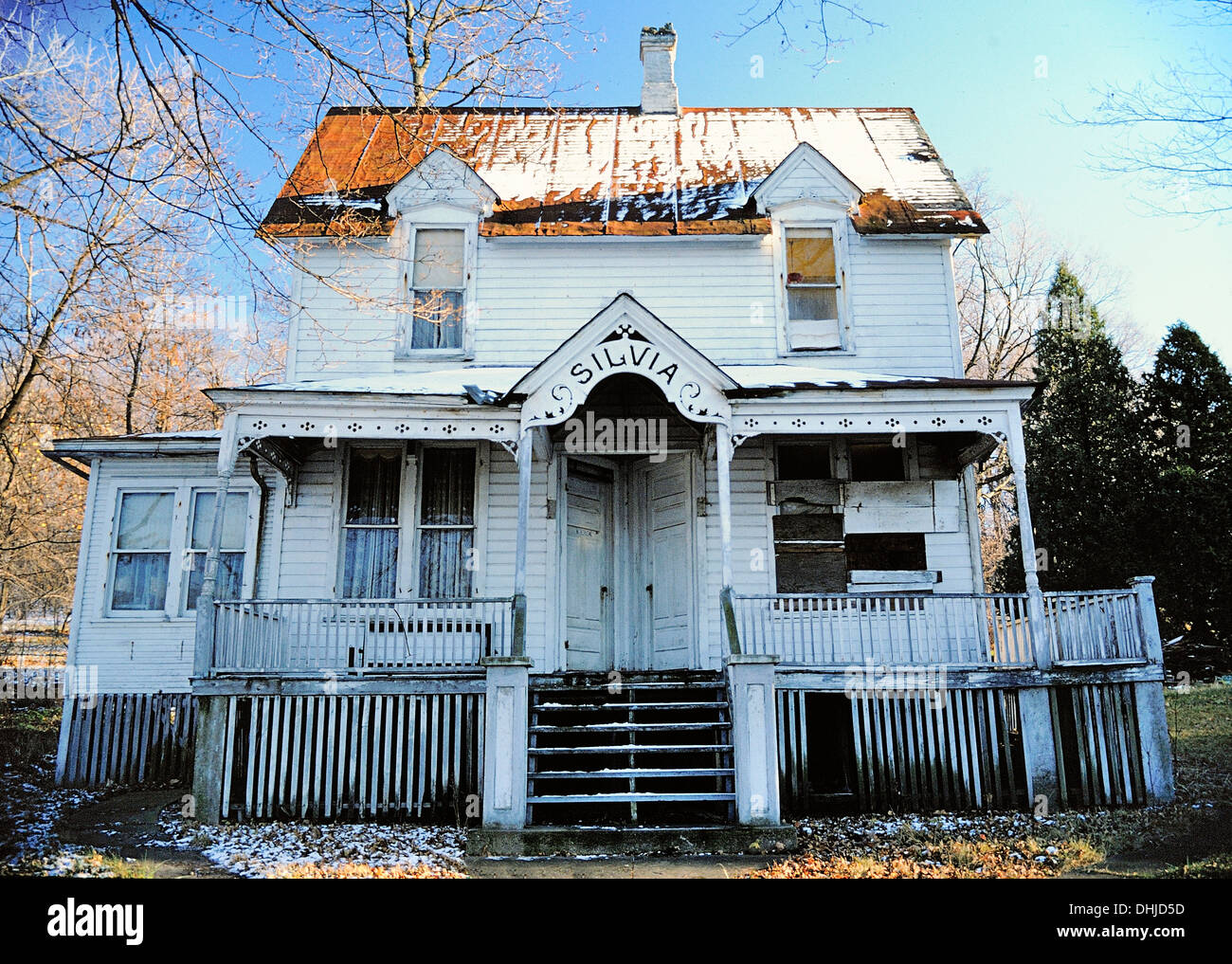 Old Victorian House of Silvia's - Stock Image