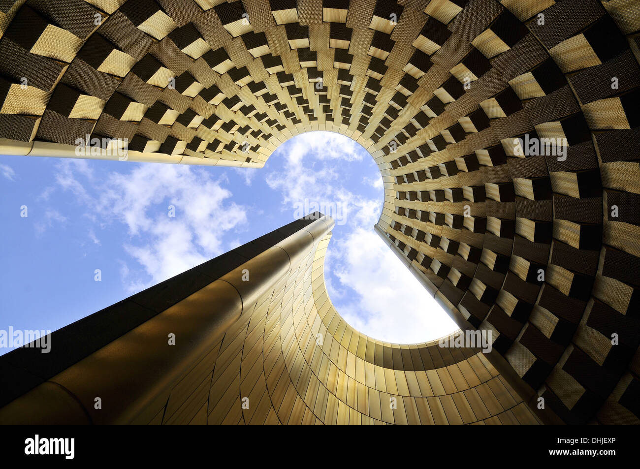 Interior view of the tower, Vulcania Park at Puy de Dome, Auvergne, France, Europe - Stock Image