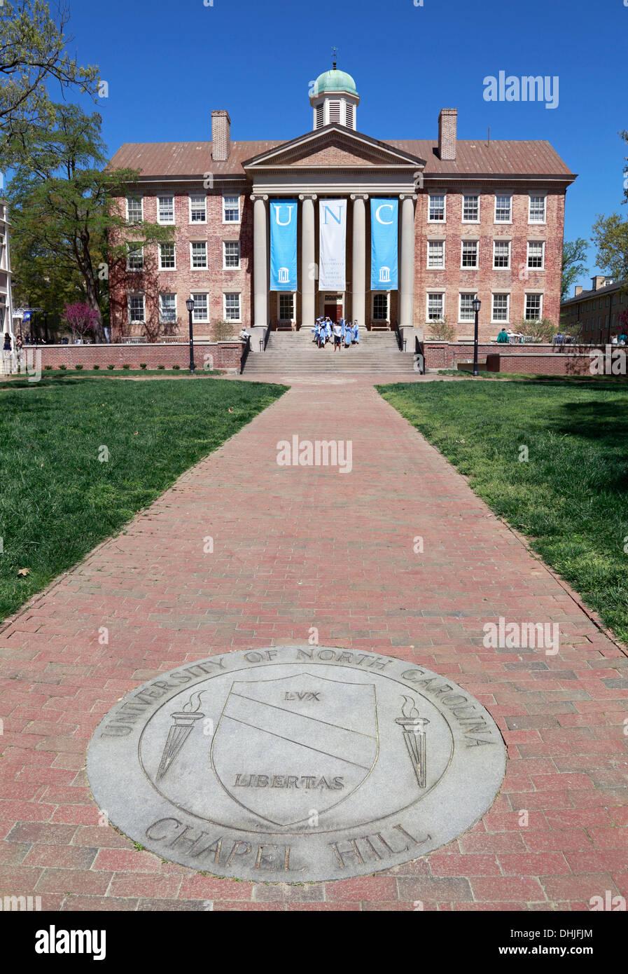 University of North Carolina Chapel Hill, UNC, campus. South building. - Stock Image