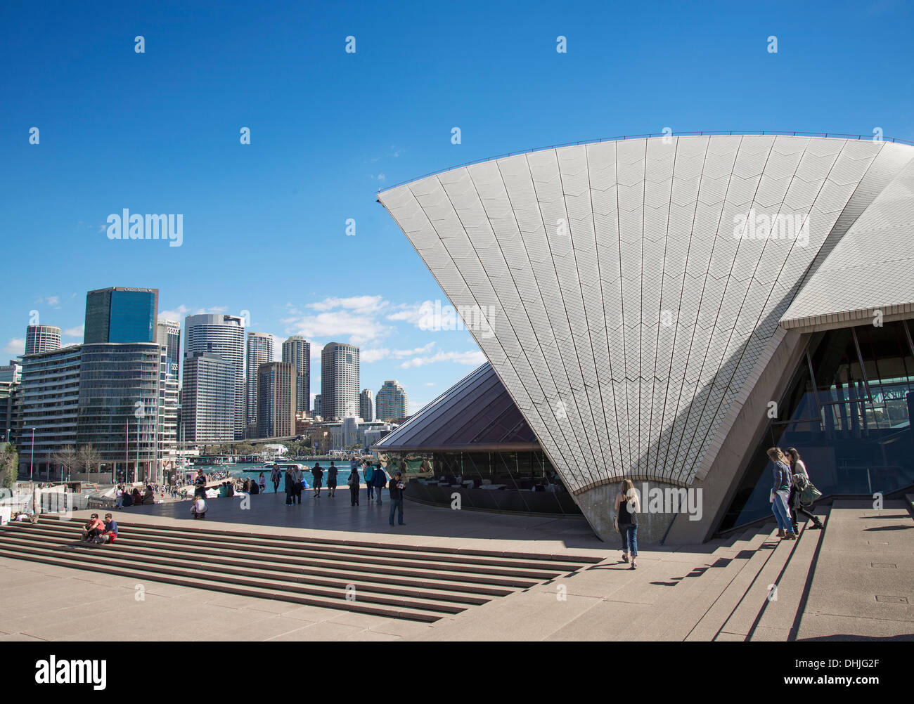 circular quay and opera house in central sydney in australia - Stock Image
