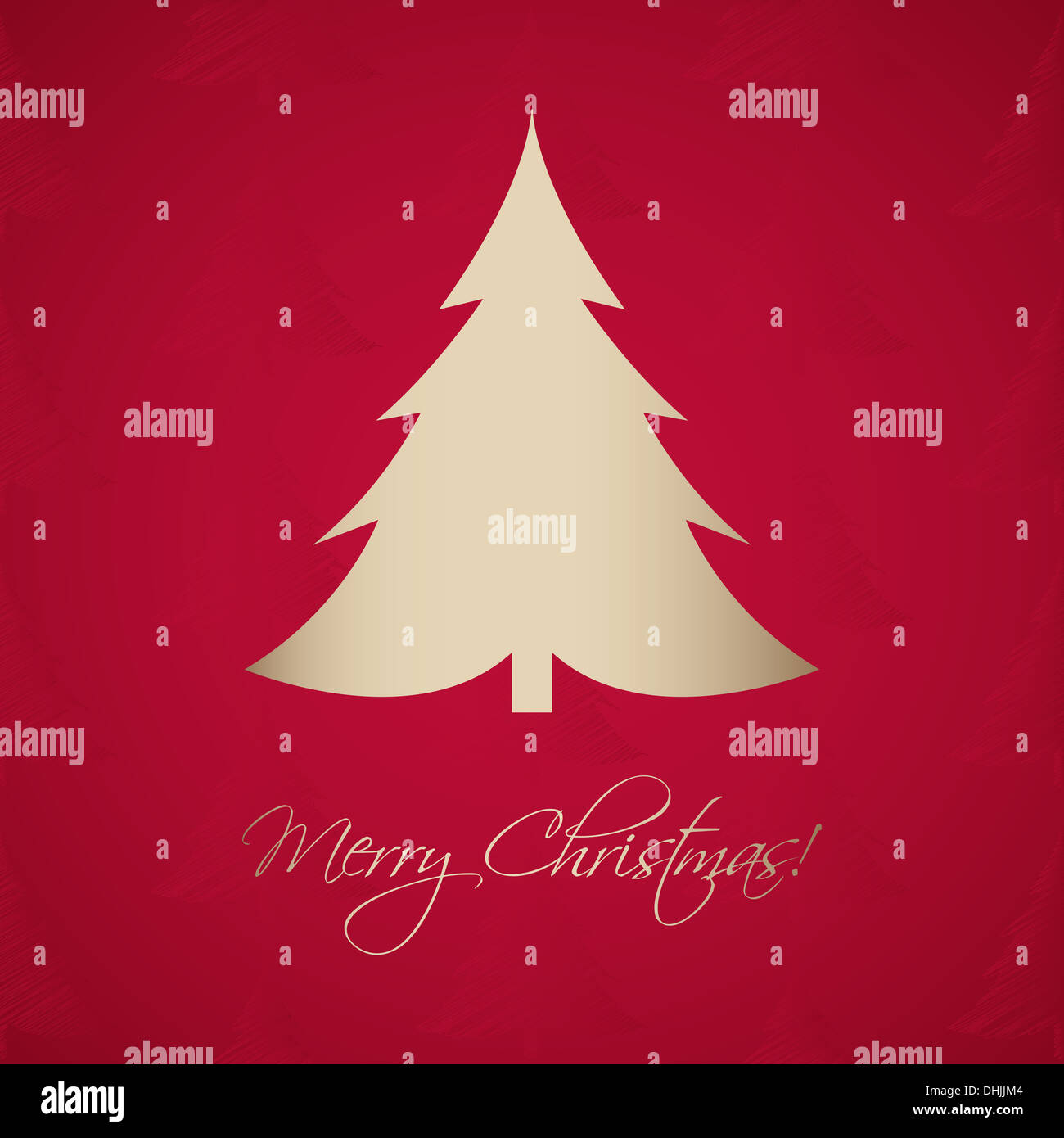 Christmas Greeting Card With A Special Christmas Tree Stock Photo