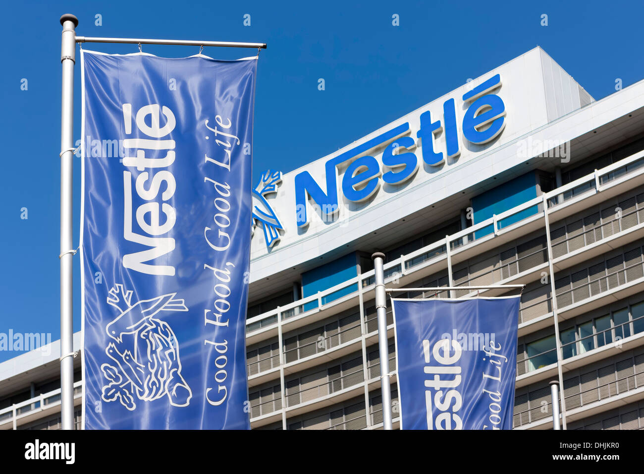Germany, Hesse, Frankfurt, office location Niederrad, part of Nestle building - Stock Image