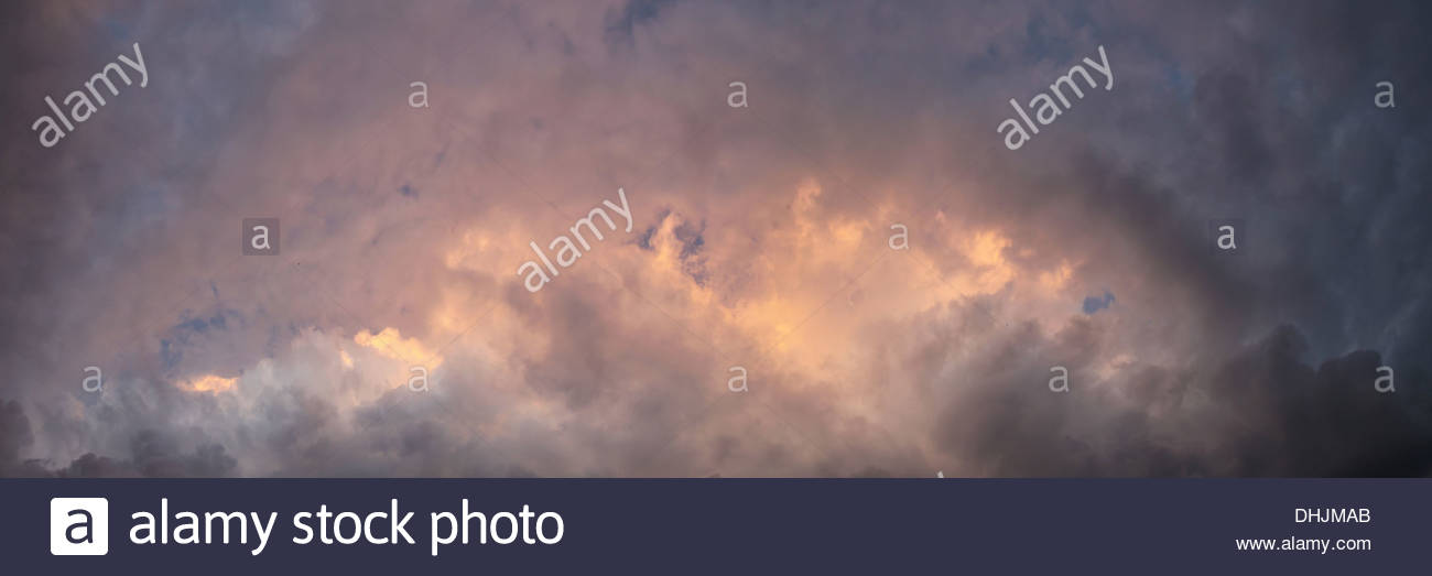 Mystical clouds - Stock Image