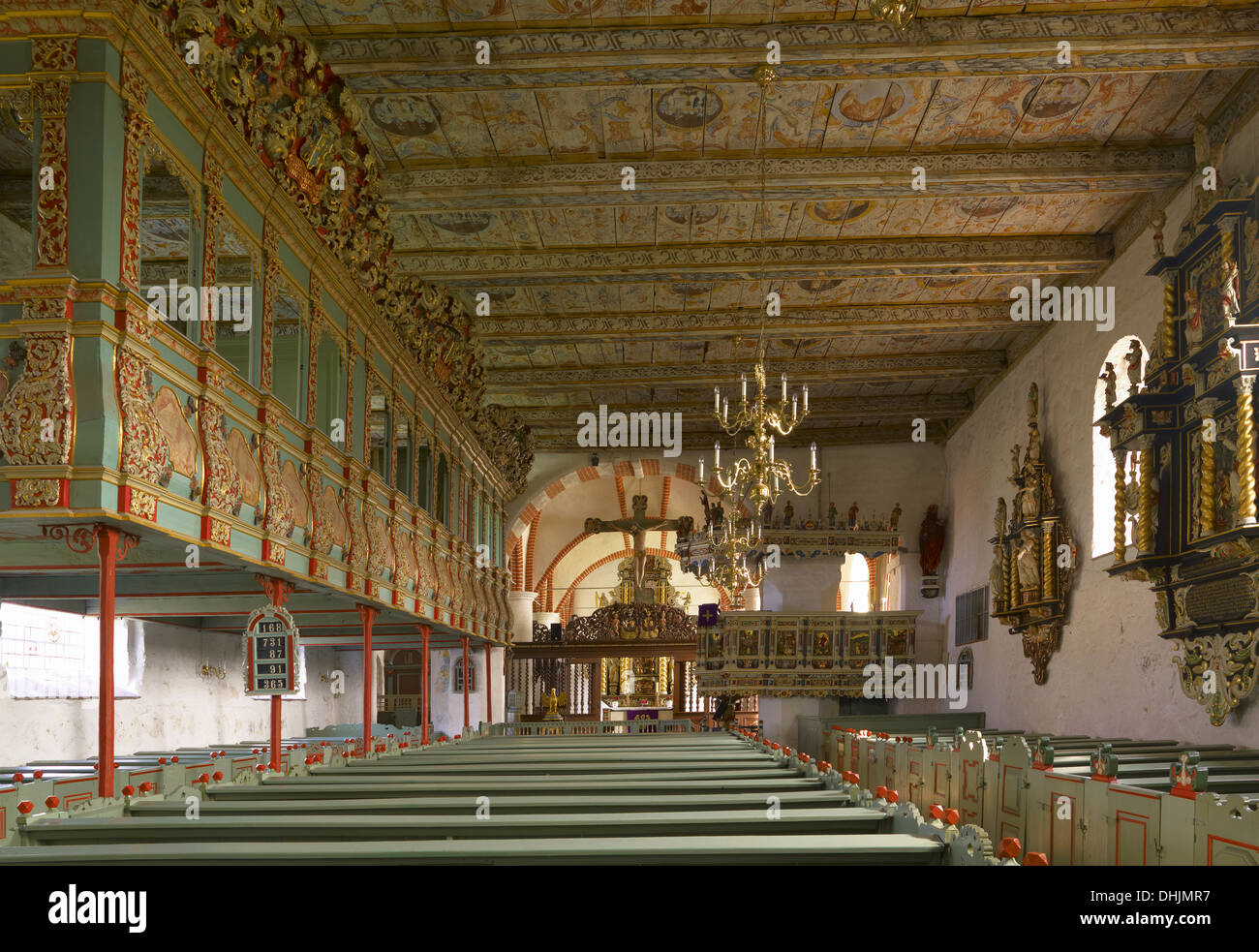 Church with renaissance facilities in Lüdingworth, Lower Saxony, Germany - Stock Image