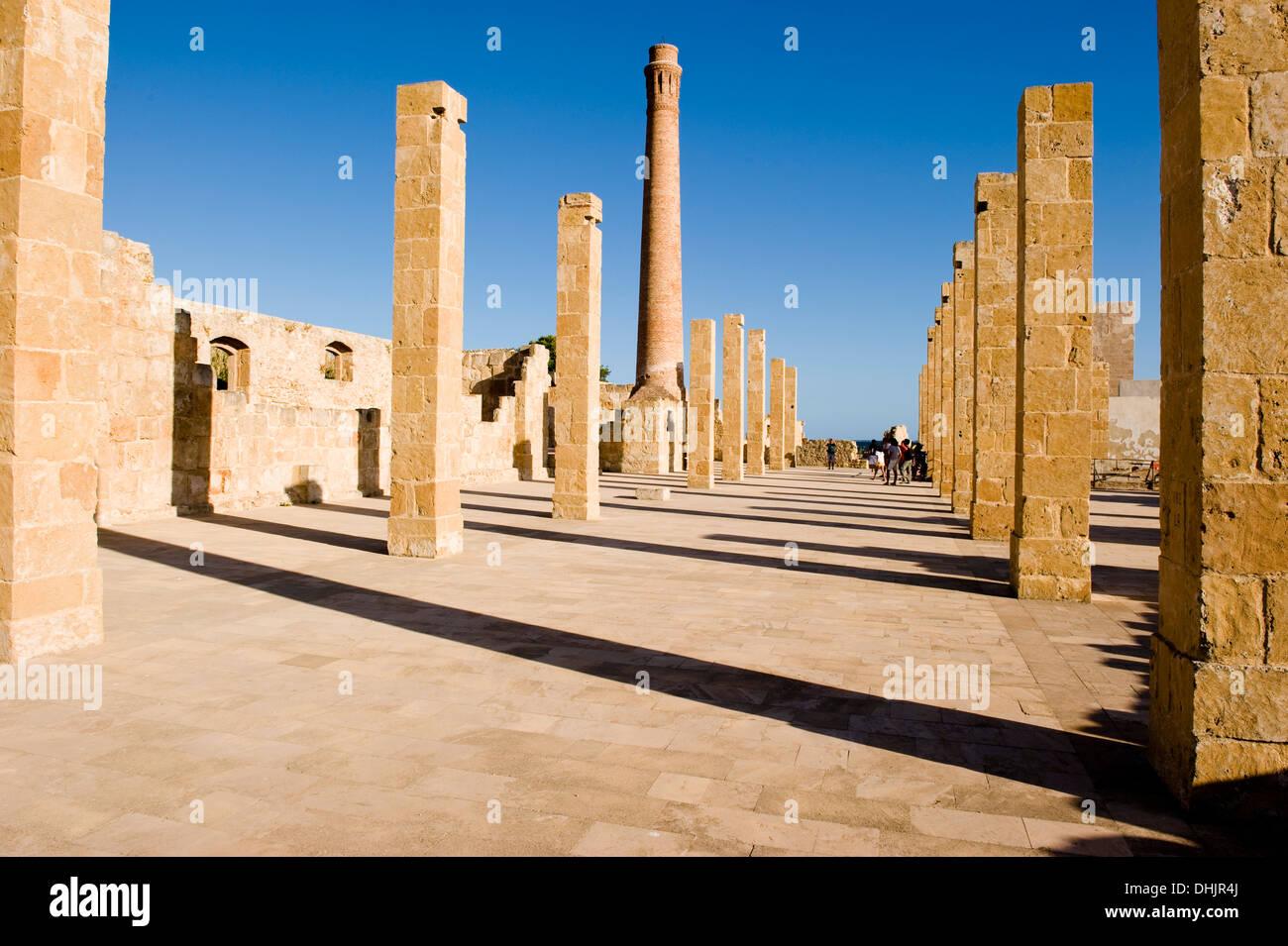Ruine of a tuna factory, Nature Reserve Oasi di Vendicari, ruin, Sicily, Italy Stock Photo