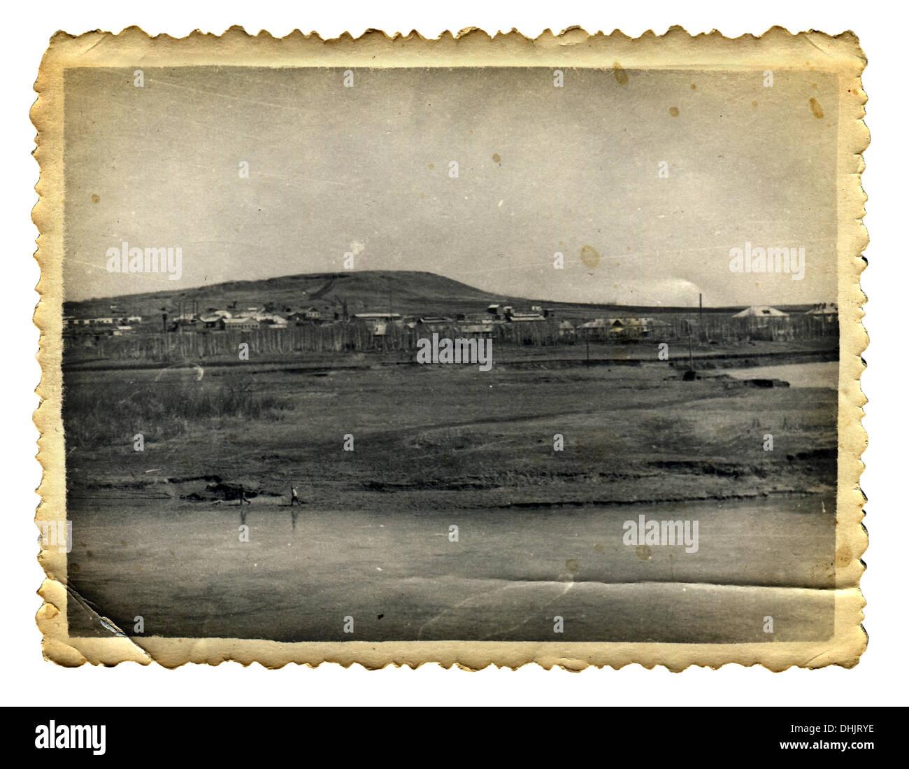 Old Photo Isolated - Stock Image