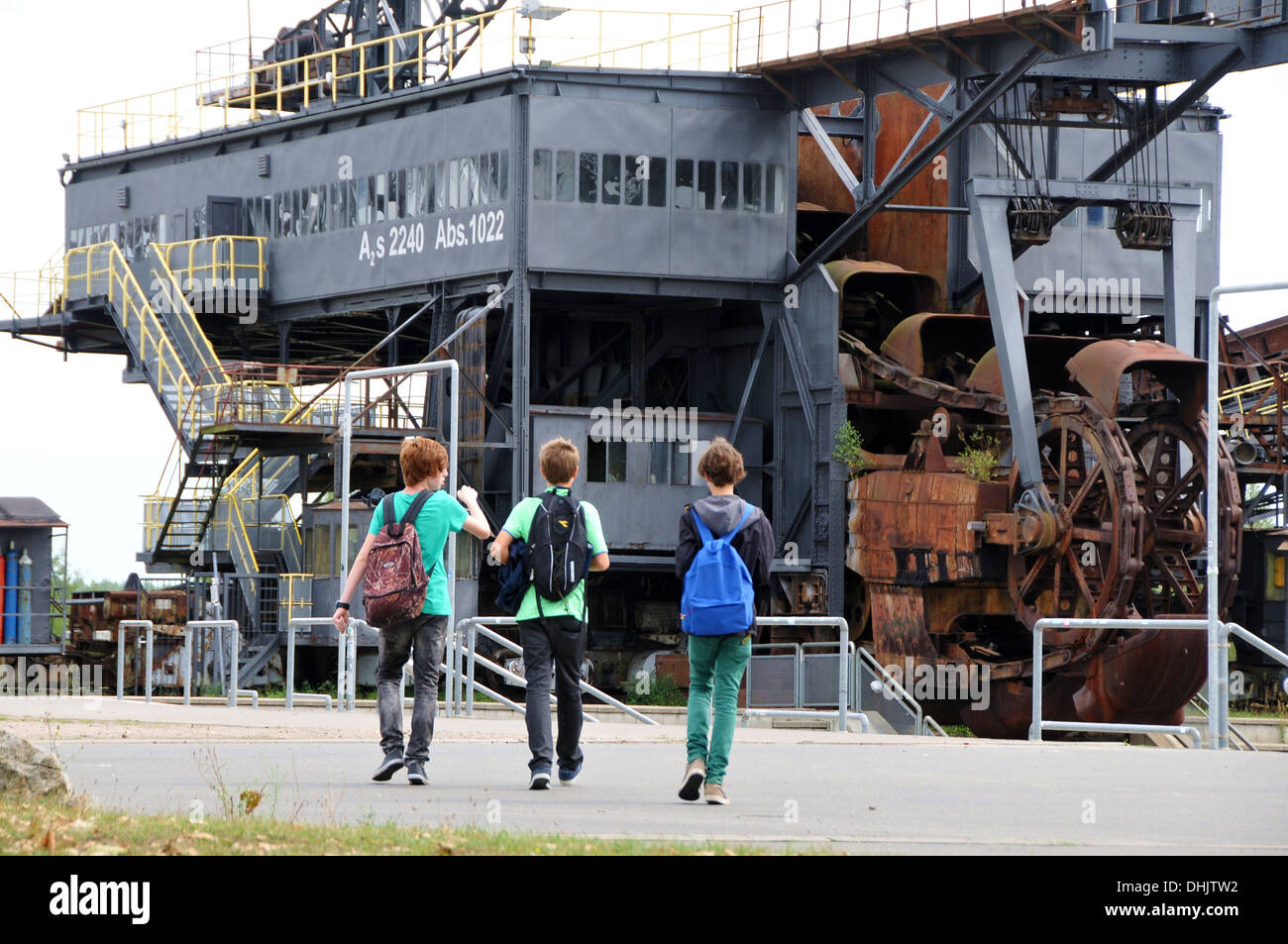 Brown coal museum Ferropolis, Saxony-Anhalt, Germany, Europe Stock Photo