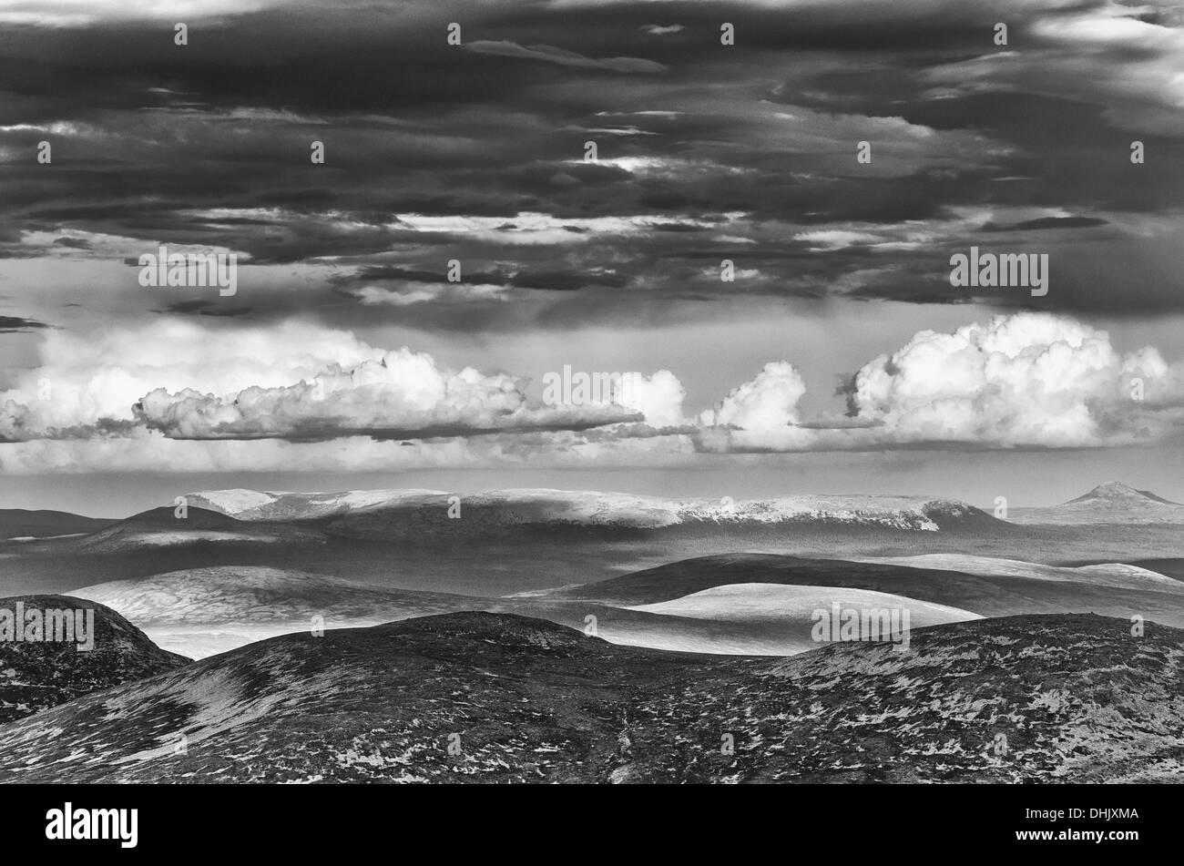 view from Elgahogna, Femundsmarka NP, Norway - Stock Image