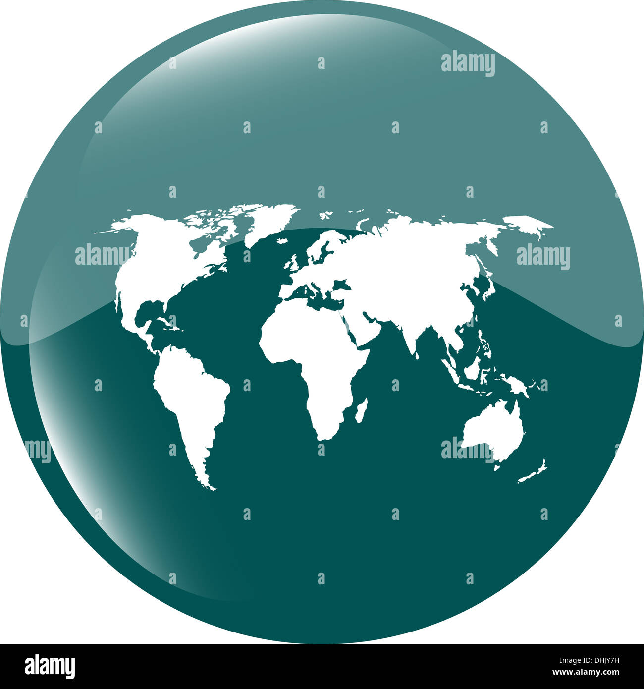 Globe icon earth world map on web button stock photo 62496773 alamy globe icon earth world map on web button gumiabroncs Gallery