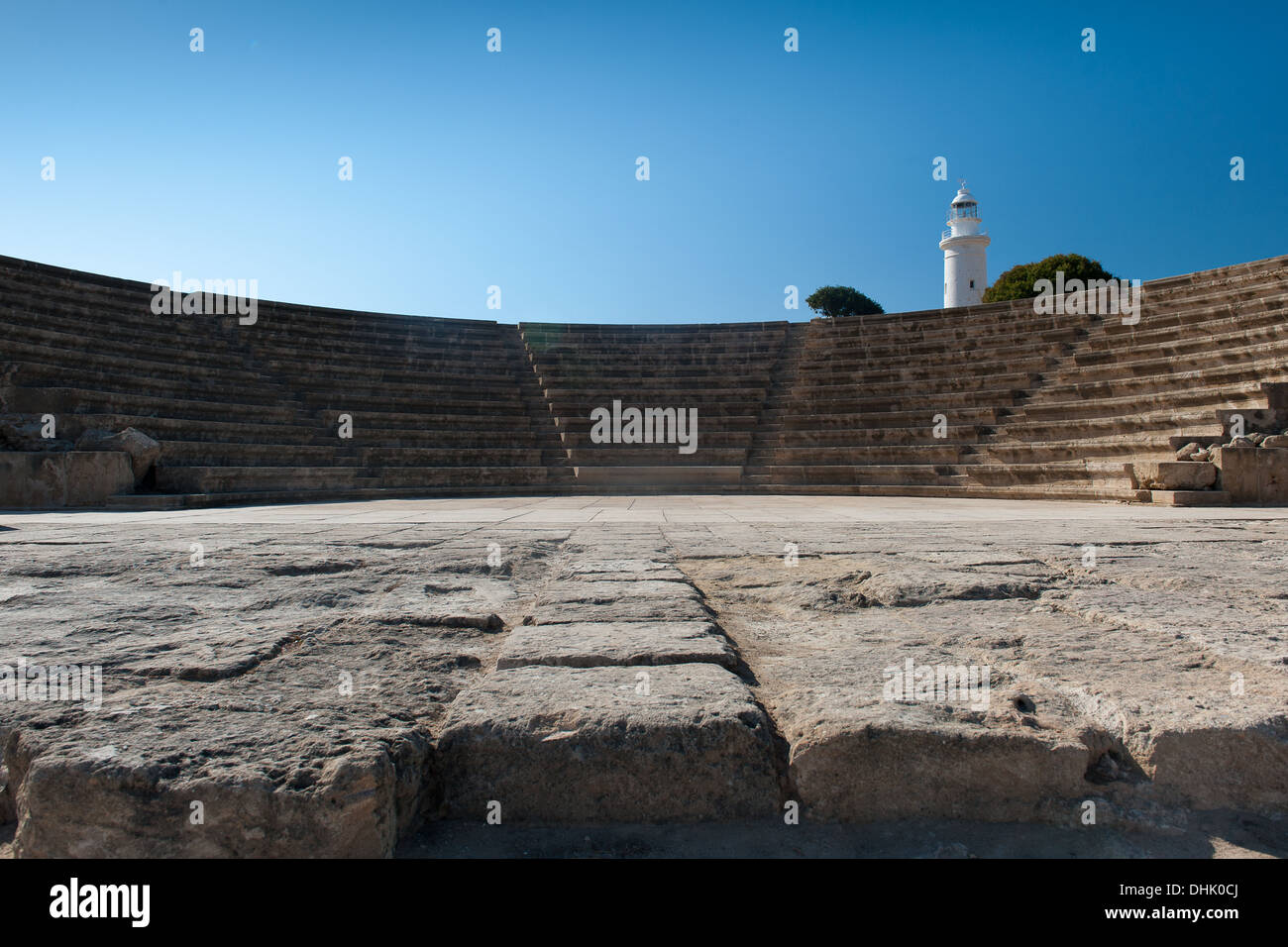 Amphitheatre in the Archaelogical site in Kato Cyprus Stock Photo