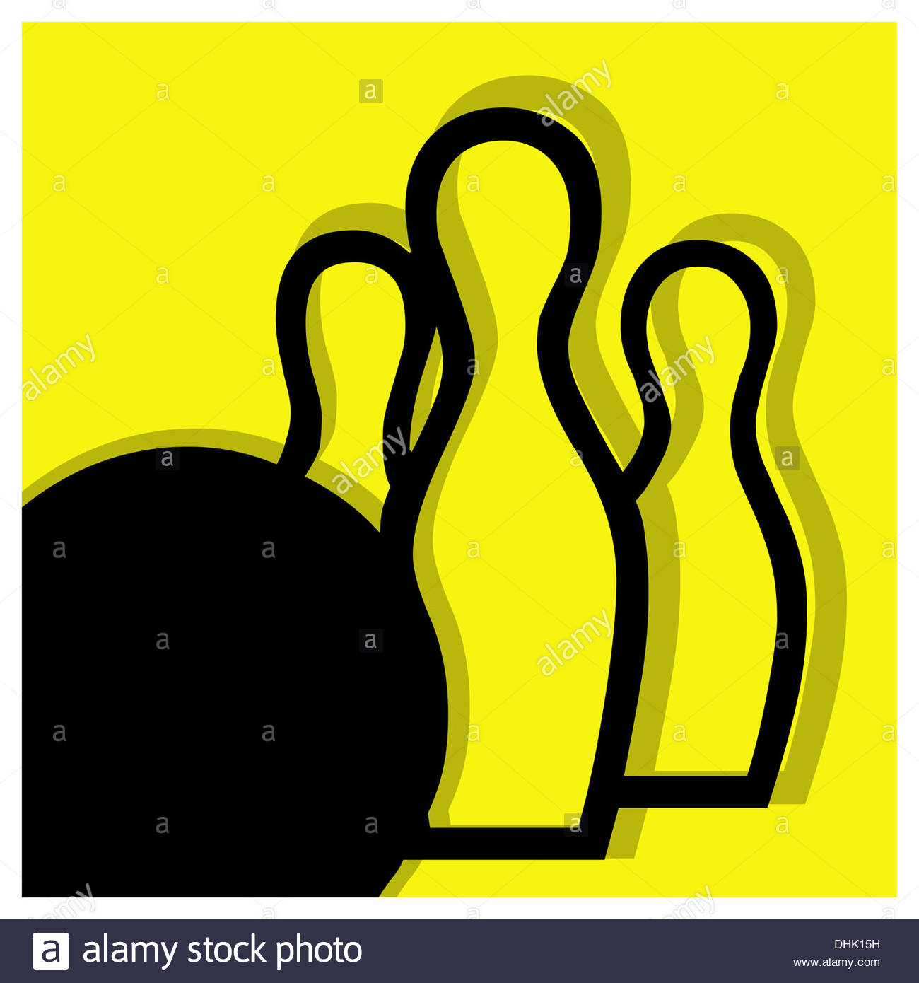 bowling pictogram - Stock Image