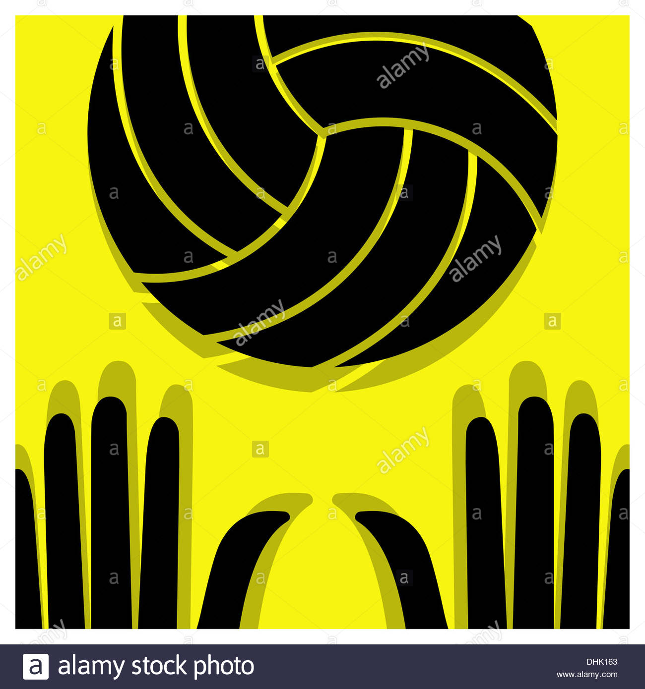 volleyball pictogram - Stock Image