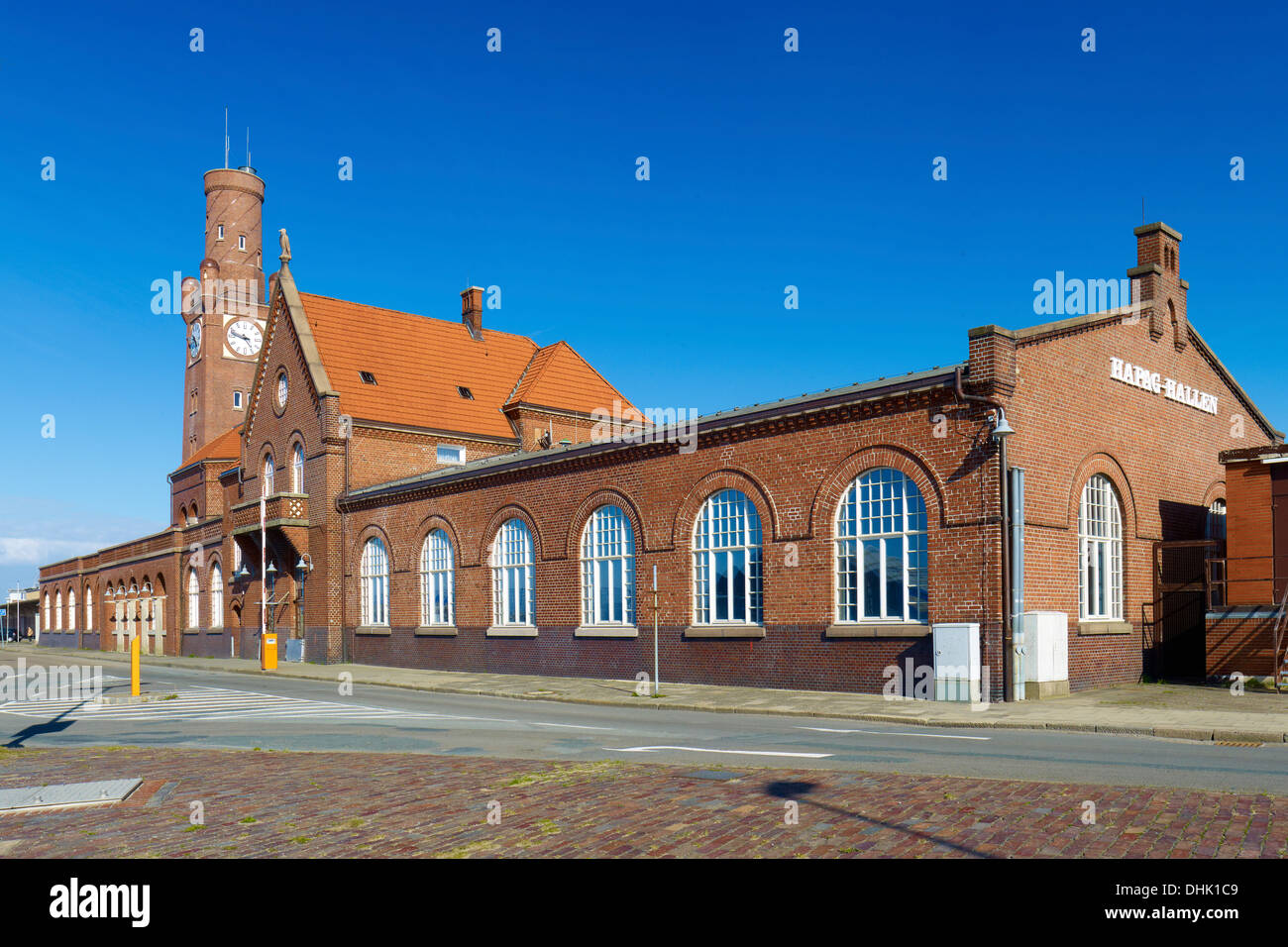 The Steubenhöft with Hapag halls, Cuxhaven, Lower Saxony, Germany - Stock Image